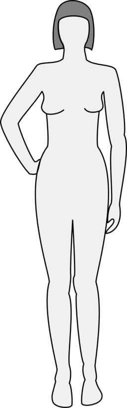 Female Body Silhouette Front