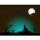download Halloween Night clipart image with 135 hue color