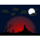 download Halloween Night clipart image with 315 hue color