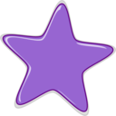 download Star clipart image with 45 hue color