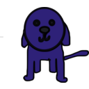 download Little Dog clipart image with 225 hue color