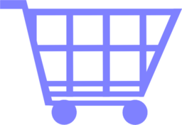 Blue Shopping Trolley
