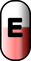 White Red E Pill