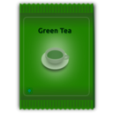 download Green Tea Sachet clipart image with 45 hue color