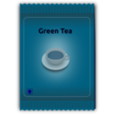 download Green Tea Sachet clipart image with 135 hue color