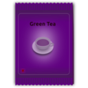 download Green Tea Sachet clipart image with 225 hue color