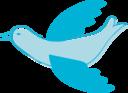 Blue Mail Bird Clipart