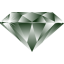 download Diamond clipart image with 225 hue color