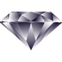 download Diamond clipart image with 0 hue color