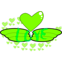 download Love Wing clipart image with 90 hue color