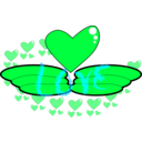 download Love Wing clipart image with 135 hue color