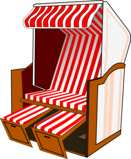 Strandkorb comic  Red Beach Chair Clipart | i2Clipart - Royalty Free Public Domain ...