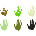 download Hand Prints clipart image with 45 hue color