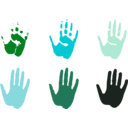 download Hand Prints clipart image with 135 hue color
