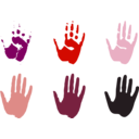 download Hand Prints clipart image with 315 hue color