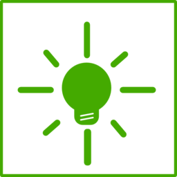 Eco Green Light Bulb Icon