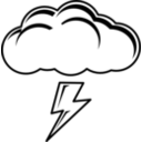 download Thundercloud Black White clipart image with 225 hue color