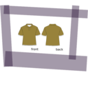 download Shirt clipart image with 225 hue color