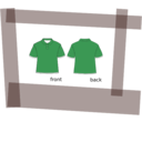 download Shirt clipart image with 315 hue color