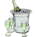 download Champagne On Ice clipart image with 45 hue color