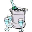 download Champagne On Ice clipart image with 135 hue color