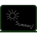download Summer School Blackboard clipart image with 90 hue color