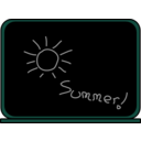 download Summer School Blackboard clipart image with 135 hue color
