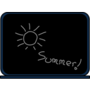 download Summer School Blackboard clipart image with 180 hue color