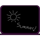 download Summer School Blackboard clipart image with 270 hue color