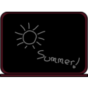 download Summer School Blackboard clipart image with 315 hue color