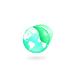 Environmental Eco Globe Leaf Icon