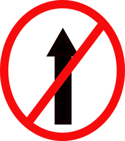 Indian Road Sign No Entry