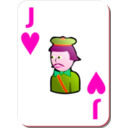 download White Deck Jack Of Hearts clipart image with 315 hue color