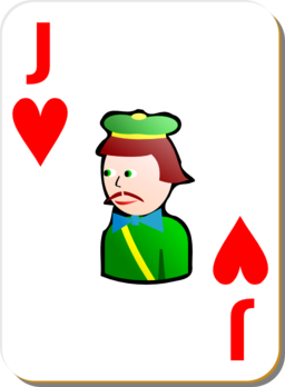 White Deck Jack Of Hearts