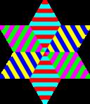 Hexagram Triangle Stripes