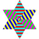 Hexagram Triangle Stripes