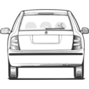download Fabia Back View clipart image with 315 hue color
