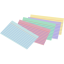 Stack Of Colored Index Cards