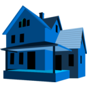 download House clipart image with 135 hue color