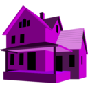 download House clipart image with 225 hue color