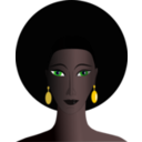 Black Woman With Green Eyes