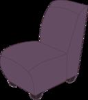 Purple Armless Chair