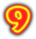 Neon Numerals 9