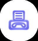 Neon Fax Icon