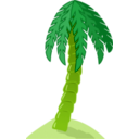 download Palm Tree clipart image with 45 hue color