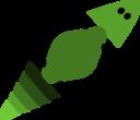 Gecko In Green