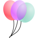 download Balloons clipart image with 45 hue color