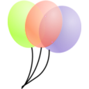 download Balloons clipart image with 135 hue color
