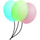 download Balloons clipart image with 225 hue color