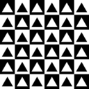 download Triangles Inside Chessboard clipart image with 45 hue color